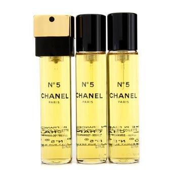 Chanel No.5 Eau De Toilette Purse Semprot Isi Ulangs  3x20ml/0.7oz