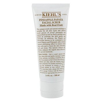 Kiehl's Esfoliante Facial Pineapple Papaya Real Fruit Extracts  100ml/3.4oz