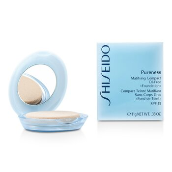 Shiseido Pureness Matifying Compact s/ óleo Base SPF15 (Case + Refill) - # 30 Natural Ivory  11g/0.38oz