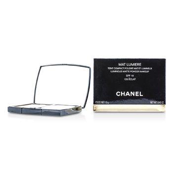 Chanel Mat Lumiere Luminous Matte Pó Makeup SPF10 - # 125 Eclat  13g/0.45oz