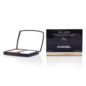 Chanel Mat Lumiere Luminous Matte Powder Makeup SPF10 - # 40 Sable  13g/0.45oz