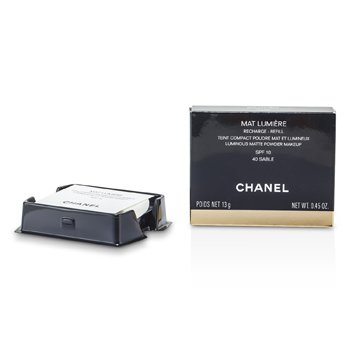 Chanel Mat Lumiere Luminous Matte Pó Makeup Refill SPF10 - # 40 Sable  13g/0.45oz