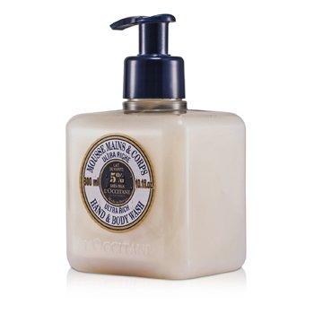 L'Occitane Mousse de banho de manteiga de Karite Ultra Rich Corpo e mãos  300ml/10.1oz