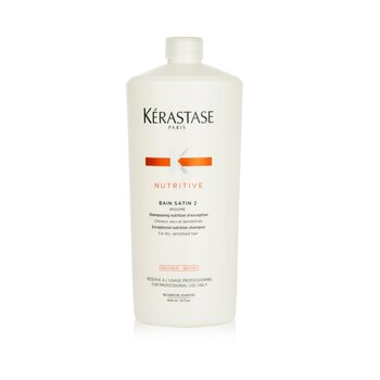 Kerastase Kerastase Nutritive Bain Satin 2 Complete Nutrition Shampoo (For Dry & Sensitised Hair)  1000ml/34oz