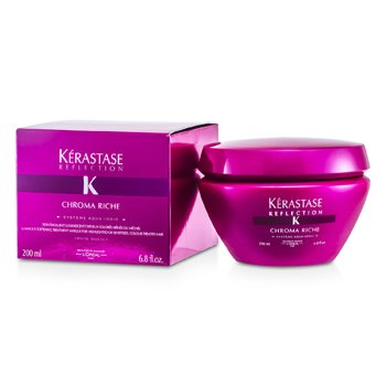 Kerastase Mascara Kerastase Reflection Chroma Riche Luminous Softening Tratamento  ( cabelos com Highlighted, sensiveis e coloridos )  200ml/6.8oz