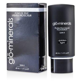 GloMinerals GloProtective Oil Free Liquid Base Maquillaje acabado Satinado Libre Aceites - Golden Light  40ml/1.4oz