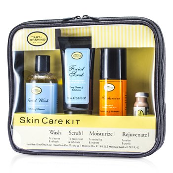 The Art Of Shaving Skincare Kit ( ����Ѻ��Ǻͺ�ҧ ): Facial Wash + Facial Scrub + Moisturizer + After Shave Mask  4pcs