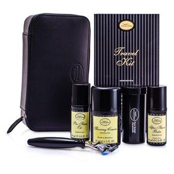 The Art Of Shaving Travel Kit (Unscented): Razor+ Shaving Brush+ Pre-Shave Oil 30ml+ Shaving Cream 45ml+ A/S Balm 30ml+ Case  5pcs+1case