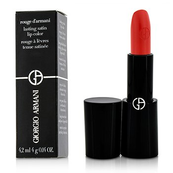 Giorgio Armani Rouge d'Armani Lasting Satin Lip Color - # 401 Red  4g/0.14oz