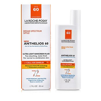 La Roche Posay Anthelios 60 Fluido Protector Solar Ultra Ligero ( Piel Normal/Mixta )  50ml/1.7oz