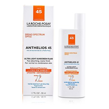 La Roche Posay Anthelios 45 Ultra Light Fluido Protector Solar Rostro (Piel Normal/Mixta )  50ml/1.7oz