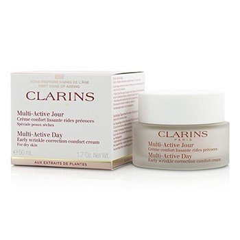 Clarins Creme corretivo Multi-Active Day Early Wrinkle  ( Pele Seca )  50ml/1.7oz