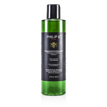Philip B Champú para Volumen y Enjuague Menta y Aguacate   350ml/11.8oz
