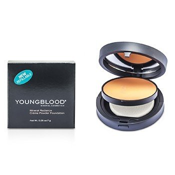 Youngblood Mineral Radiance Creme Powder Foundation - # Rose Beige  7g/0.25oz