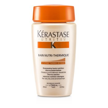 Kerastase Nutritive Bain Nutri-Thermique Thermo-Reactive Intensive Nutrition Shampoo (For Very Dry and Sensitised Hair)  250ml/8.5oz