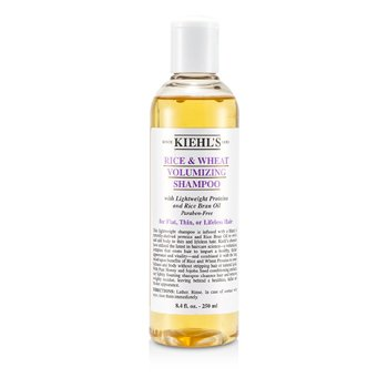 Kiehl's Rice & Wheat Volumizing Shampoo (For Flat, Thin or Lifeless Hair)  250ml/8.4oz