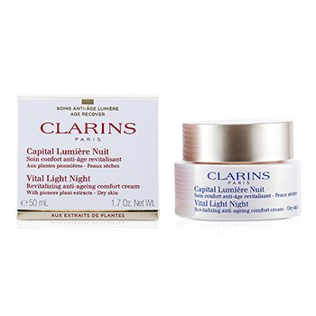 Clarins Vital Light Night Crema Revitalizante Antienvejecimiento de Noche  50ml/1.7oz