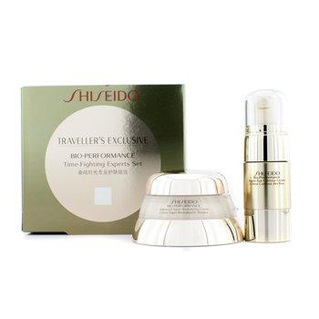 Shiseido Programa Anti envejecimiento  Bio Performance Time Fighting : Crema Avanzada S�per Revitalizante + Crema Contorno Ojos  2pcs