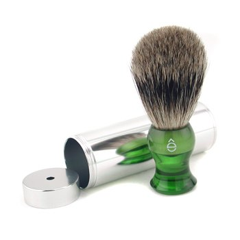 EShave Travel Brush Fine With Canister - Green  1pc