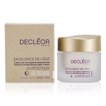 Decleor ครีมกลางคืนเพิ่มความแน่นให้ผิว Excellence De L'Age Sublime   50ml/1.69oz