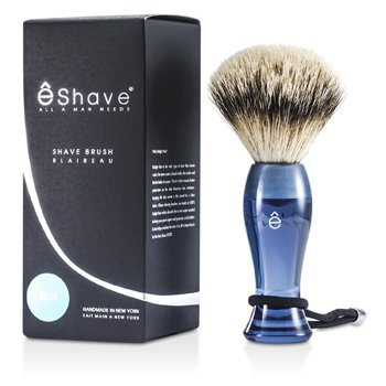 EShave Brocha Afeitado Plata - Blue  1pc