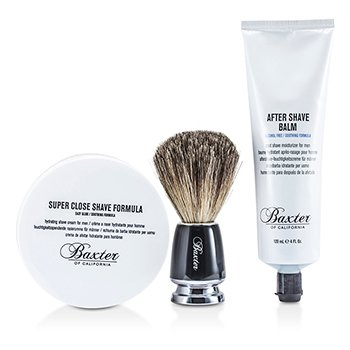 Baxter Of California Set Afeitado 1.2.3 : F�rmula Afeitado + B�lsamo + Brocha  3pcs