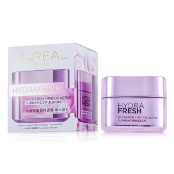 L'Oreal Hydra Fresh Hydration+ Antiox Emulsi�n Activa Suprema  50ml/1.7oz