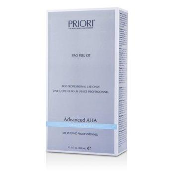 Priori Advanced AHA PRO Set Exfoliantee ( Tamaño Salón ) : Solución Pre-Exfoliantee+  Gel Exfoliantee Multi capas  2x180ml/6oz
