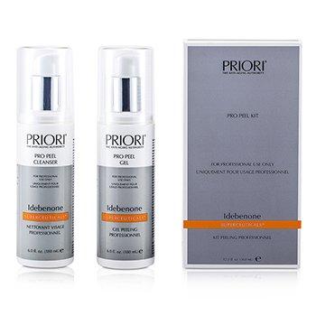 Priori Idebenone PRO Peel Kit (Salon Product) : Pro Peel Gel + Pro Peel Cleanser  2x180ml/6oz