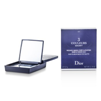 Christian Dior 3 Couleurs Smoky Ready To Wear Eyes Palette - # 091 Smoky Black  5.5g/0.19oz