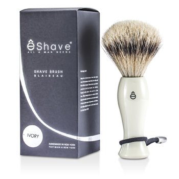 EShave Помазок для Гоління зі Срібним Кінчиком - Білий  1pc