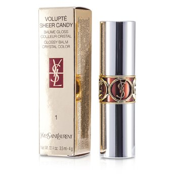 Yves Saint Laurent Volupte Sheer Candy Lipstick (Glossy Balm Crystal Color) - # 01 Lush Coconut  4g/0.14oz