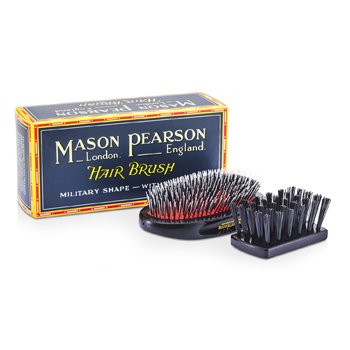 Mason Pearson Szczotka do włosów z włosia dzika i nylonu Boar Bristle & Nylon - Medium Junior Military Nylon & Bristle Hair Brush (Dark Ruby)  1 sztuka