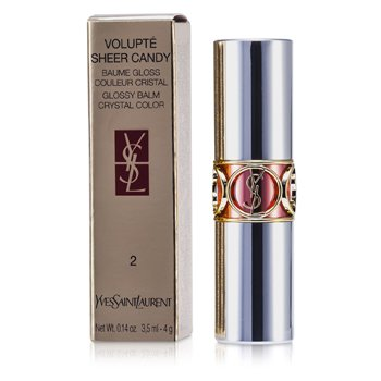 Yves Saint Laurent Volupte Sheer Candy Lipstick (Glossy Balm Crystal Color) - # 02 Dewy Papaya  4g/0.14oz