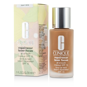 Clinique Uso Reparador Enfoque Láser Maquillaje Suave SPF 15 - # 11 (M-N)  30ml/1oz