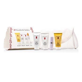 Elizabeth Arden Set Ocho Horas: Protector Piel + Hidratante Intensivo Diario SPF15 + Defensa Solar SPF 50 + Protector de Labios  4pcs+1bag