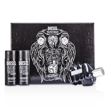 Diesel Only The Brave Tattoo Coffret: Eau De Toilette Spray 75ml/2.5oz + 2x After Shave Balm 50ml/1.7oz  3pcs