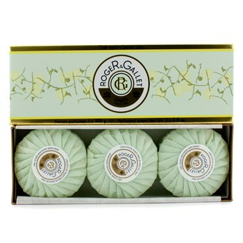 Roger & Gallet Green Tea (The Vert) lõhnaga seebikohver  3x100g/3.5oz