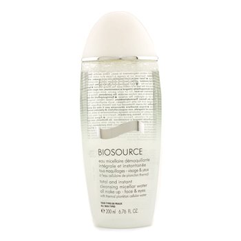 Biotherm Biosource Total And Instant Agua desmaquilladora  200ml/6.76oz