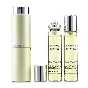 ชาแนล สเปรย์น้ำหอม Chance Eau Fraiche Twist & Spray EDT  3x20ml/0.7oz