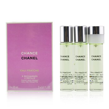 Chanel ادوتویلت ریفیل Chance Eau Fraiche   3x20ml/0.7oz