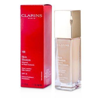 Clarins Skin Illusion Natural Radiance Foundation SPF 10 - # 109 Wheat  30ml/1.1oz