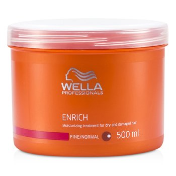 Wella Maska do włosów suchych i zniszczonych Enrich Moisturizing Treatment For Dry & Damaged Hair (Fine/Normal)  500ml/16.7oz