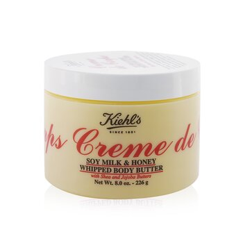 Kiehl's Creme de Corps Soy Milk & Honey Whipped Body Butter Losion Tubuh  226g/8oz