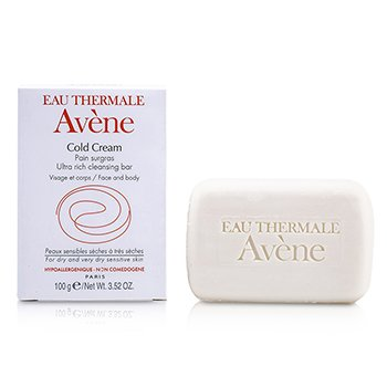Avene Cold Cream Ultra Rich Cleansing Bar (pele seca & sensivel e muito seca)  100g/3.52oz