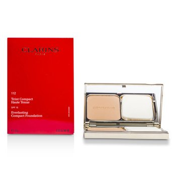 Clarins Everlasting Compact Foundation SPF 15 - # 112 Amber  10g/0.35oz