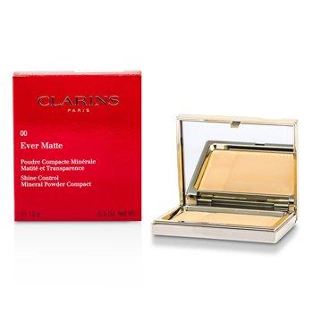 Clarins Ever Matte Shine Control Polvos Compactos Minerales - # 00 Transparent Opale  10g/0.35oz