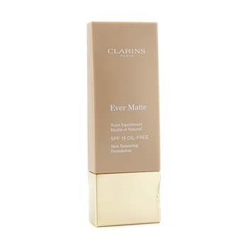Clarins Ever Matte Skin Balancing Oil Free Foundation SPF 15 - # 107 Beige  30ml/1.1oz