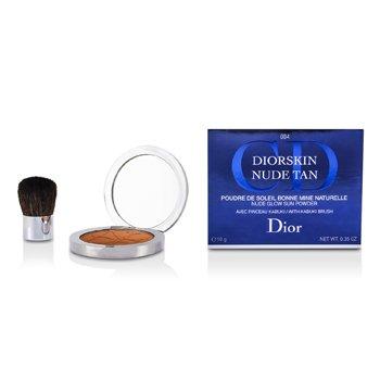 Christian Dior Diorskin Nude Tan Nude Polvos Solares Brillante (Brocha Kabuki) - # 004 Spicy  10g/0.35oz