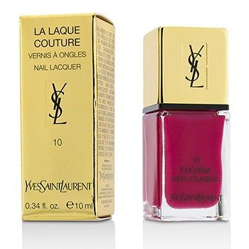 Yves Saint Laurent La Laque Couture Nail Lacquer - # 10 Fuchsia Neo (Classic)  10ml/0.34oz